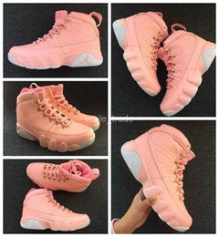 Wholesale Womans Sports - 2017 New air Retro 9 IX Women Basketball Shoes Cheap Pink Athletics Sneakers Womans Trainers Retros 9s Basket ball Sport Shoes 36-40