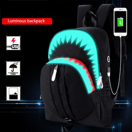 Argentina Mochilas para hombre Mochilas Luminosas Mochila Usb Lona Viaje Male Backpack Bag Bagpack Hombre Back Pack Mochilas para hombres cheap male casual backpacks Suministro