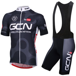 Wholesale Mens Bicycles - New 2017 TEAM GCN pro cycling jersey bike short SET MTB Ropa Ciclismo PRO cycling WEAR mens BICYCLING Maillot Culotte free shipping
