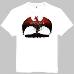 Wholesale Dragon Age - Dragon age t shirt Nice short sleeve gown Origins game tees Leisure clothing Quality cotton fabric Tshirt