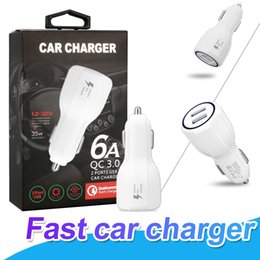 Wholesale Qc Cars - Fast Car charger For Samsung S8 Plus Note 8 QC 3.0 Dual USB Port For iPhone X 8 Plus 3.1A Qualcomm Quick charge With Retail Packing