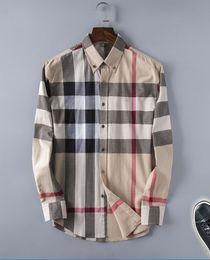 moda da camisa dos homens da flanela Desconto 2018 dos homens de negócios da marca casual camisa dos homens de manga longa listrado slim fit camisa masculina social camisas masculinas nova moda camisa # 95606
