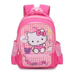 Mochila para crianças on-line-Olá kitty crianças mochila meninas do jardim de infância crianças sacos de escola dos desenhos animados gravata borboleta bebê menina escola mochila bonito sacos kt