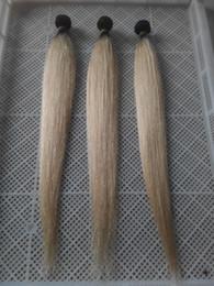 Canada Deux types de couleur T1B / 60 Extensions de cheveux droites de Vierge européenne 100% Armure de cheveux humains 10-30 pouces Extension de cheveux de trame double cheap european straight hair extensions Offre