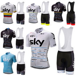 Wholesale Sky Jerseys - Crossrider 2017 team sky cycling jersey bike short SET MTB Ropa Ciclismo PRO cycling clothing mens bicycle Maillot Culotte suit