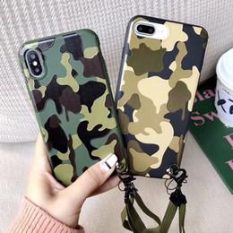 2019 camo couvre iphone Antichoc Militaire Camouflage Camo Armée Doux TPU En Caoutchouc Camo Couverture de Cas de téléphone Pour iPhone X 6 7 8 plus iphone XR XS Max camo couvre iphone pas cher
