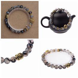 Wholesale Head God - New Design Wholesale Agate Stone Beads Bracelet Gold Silver Plated Lion God head beading Best Gift Bracelets