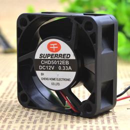 ventilador superred 12v Rebajas Para original mil rojo SUPERRED CHD5012EB 12V 0.33A 5CM 5020 ventilador de enfriamiento de 2 hilos