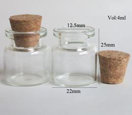 2019 bouteille à bouchon de verre Vente en gros - 30 x 4 ml Mini verre vide bouchons obturables Smal échantillons verre bouteilles Conteneur pour cadeau bouteille à bouchon de verre pas cher