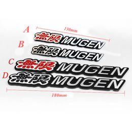 Deutschland 3D Aluminium Mugen Emblem Chrom Logo Hinten Abzeichen Auto Trunk Aufkleber Auto Styling Für Honda Civic Accord CRV Fit Versorgung
