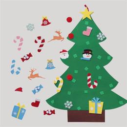 pack blanc neige Promotion Joyeux Noël Arbre Main Bricolage Chaussette Père Noël Bonbons En Feutre Cadeau Fun Festival Décorations Classique Décor À La Maison Vente Chaude 22fq KK
