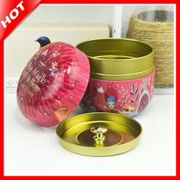 Wholesale black decorative gift boxes - 2018 Hot Tins Round Tin Box With 2 Lids Candy Jewelery Storage Container Sundries Organizer Decorative Gift Packing Iron Box