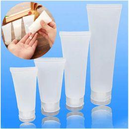 Canada Récipients de lotion en plastique de tube souple cosmétique de capsule à vis / capsule de fermeture Videz le tube de compression de tube compressible Offre