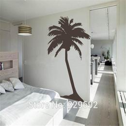 kleine hausdekoration Rabatt Freies Verschiffen-großer Palmewandaufkleber, Wohnzimmer tropische Wandkunst-Hausdekoration hohe Palme Größe 97x183cm tx399