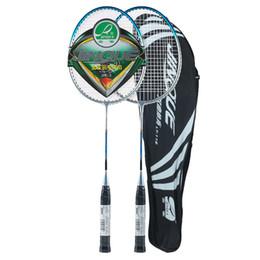 4173d1b3c Raquete de Badminton de alumínio leve ajustada da raquete de Badminton de 2  jogadores com o saco da tampa da raquete acessível racket cover