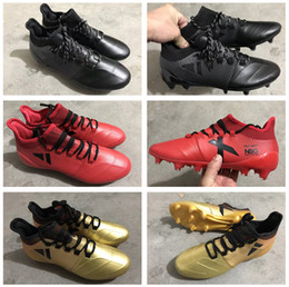 Wholesale Tpu Sports Shoes - Hot X 17.1 Soccer Shoes For Men Women Kids FG TPU Outdoor Sport Football Boots 35-45 Leather Soccer Cleats