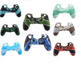 Xbox rubber on-line-Colorido camo gel de silicone macio caso capa de borracha da pele aderência para xbox one ps4 controlador sem fio