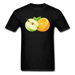 2018 Последняя футболка Мода Apple и оранжевый с коротким комфортным мягким вырезом для мужчин cheap apple latest от Поставщики apple latest