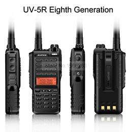 Wholesale Vhf Uhf Handheld Transceivers - New Baofeng UV-5R 8th Generation Walkie Talkie Handheld Ham Two Way Radio VHF UHF UV Dual Band BF-UV5R Double PTT Transceiver