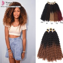 Wholesale Synthetic Bulk Hair For Braiding - Free Shippig wholesale 14inch curly crochet braids kinky curly afro bulk hair bundles 100g per pack hair peices for black women south africa