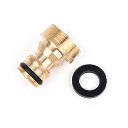 Wholesale gun washing machine - 1PCS Brass Faucets Standard Connector Washing Machine Gun Quick Connect Fiing Pipe Connections Random Color