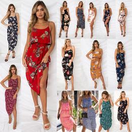 abiti rossi corti per le donne Sconti Mini brevi colori misti stampati a  motivi floreali Abiti a86f789ad94