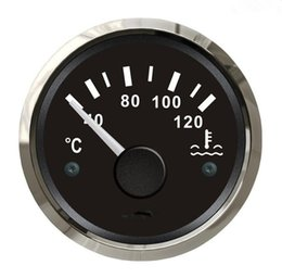 Wholesale Water Temp Gauges - 1pc 100% Brand New Water Temperature Indicators Water Temperature Gauges 12V 24V for Boat or Auto with Sensors