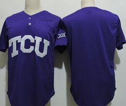 Wholesale Frog Custom - Custom NCAA TCU Horned Frogs College Baseball Jerseys Men Women Youth purple Stitched Any Name Any Number Baseball Jersey S-4XL