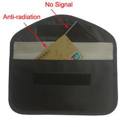 Bolso de bloqueo de la señal del RFID del paño de Oxford, anti-espionaje Anti-espionaje de la señal de la bolsa de la clave de la radio que bloquea la caja del teléfono celular desde fabricantes