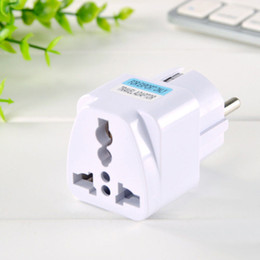 Wholesale plugs europe - 1Pc USA US UK AU To EU Europe Travel Adapter Home Charger Power Adapter Universal Converter Wall Plug For Mobile Phone