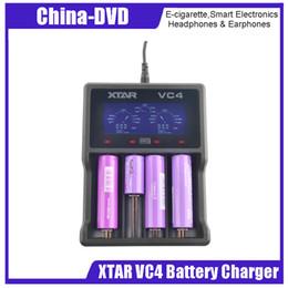 Подлинное зарядное устройство Xtar VC4 для ЖК-дисплея с 4 слотами и зарядное устройство для системы контроля температуры подходят для Ni-MH и литий-ионных аккумуляторов от Поставщики аккумулятор xtar