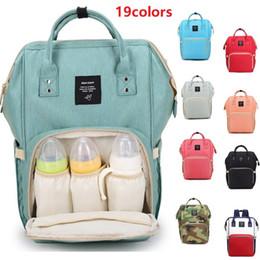 Paquetes de pañales online-19 colores bolsa de pañales para bebés mamá mochilas bolsas de pañales multifunción de gran capacidad alimentadores madre paquete de maternidad 2018 Hotsale DHL gratis