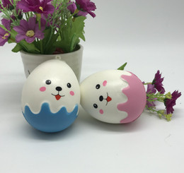 Wholesale Apple Eggs - 8cm Egg Expression Squishy Slow Rising Toy Decompression Bread Cute Cake Sweet Food Scented Phone Pendant Key Chain Toy Gift