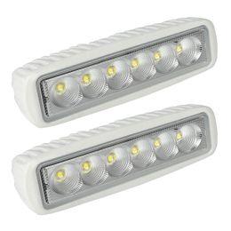 Wholesale marine flood lights - LAGUTE 2 Pack White Spreader LED Deck Light Marine Lights for Boat Flood Light 12V 18W