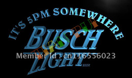 Wholesale Neon Busch Beer Signs - LA446- It's 5 pm Somewhere Busch Beer LED Neon Light Sign