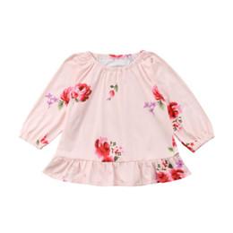 Nouveau-né Infantile Enfants Bébé Fille Tops Dress Floral Mini Mignon Robe À Manches Longues À Manches Longues Vêtements Bébé Filles Robe Vêtements 0-12M ? partir de fabricateur