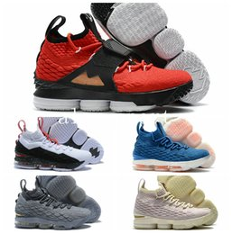 Wholesale Sneakers Diamonds - High Quality James 15 15s AZG Airs Zoom Generation Alternate Diamond Turf City Edition Basketball Shoes Red Grey Black Sneakers US 7-12