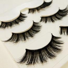 Wholesale Full Stage - 3 Pairs Mink 3D False Eyelashes Natural Long Crisscross Thick Messy Eyelashes Winged Fake Eyelashes Fashion Beauty Makeup stage Lashes