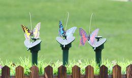 2018 più nuovo DHL Solar Power Ballando Farfalle che volano Vibrazioni Volare Colibrì Uccelli volanti Giardino Decorazione Yard Giocattoli divertenti cheap garden decorations butterflies da farfalle decorazioni da giardino fornitori