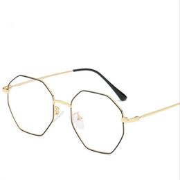 e02527be8b5 Eyeglasses Optical Glasses Frames Men Women Metal Full Frame Fashion Slim  Legs Designer Polygon Prescription Glasses 6031