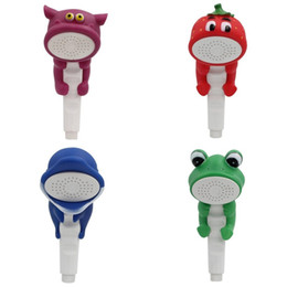 Gebrauchte tiere online-Neue Kreative Schöne Tierform Kinder Bad Zeigen Köpfe PVC Wasserhahn Sprinkler Kinder Home Spielzeug Einfach Zu Verwenden 15jn aa