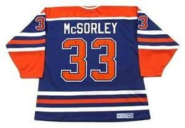 MARTY McSORLEY Edmonton Oilers 1987 CCM Vintage M N Away Custom Any  Name No. Hockey Personalized Jerseys marty mcsorley jersey for sale 362000df1