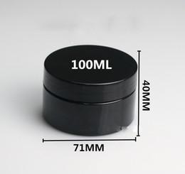 Masques de boxe en Ligne-(40 pcs) 100 ml Bouteille en plastique noire Boîte d'emballage de cosmétiques Masque réservoir 100cc Contenants cosmétiques vides Vase vide Livraison gratuite
