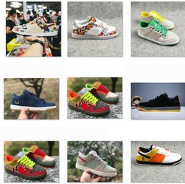 outlet store bc0e1 f4f0c Dunk SB Low Pro QS What The Dunk Men Women Running Shoes PARIS White Widow  Roswell Raygun DECON TRD Denim Skateboarding Sports Sneakers