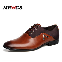 Wholesale Handsome Pump - Big Size 38-47 Business Men's Basic Casual Shoes,Black Brown Leather Cloth Elegant Design Handsome Shoes