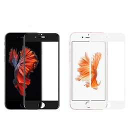 Wholesale Round Glass Cover - 3D Curved Edge Full Cover Round Protective Screen Protector Tempered Glass for iPhone 6 6s 7 8 Plus