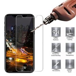 Protector de pantalla protector de rotura online-Protector de pantalla de cristal templado Protector de película 9H Dureza Explosión Película para iPhone X 8 7 6 6S 5 5S Plus Samsung Galaxy S9 S8 Plus