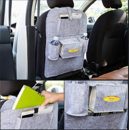 Wholesale Wall Hanging Storage Pockets - Auto Car Seat Back Multi-function Storage Bag Multi Pocket Travel Bags Box Car Seat Hanging bag T3I0053