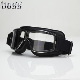 Retro Vintage Óculos de Proteção Da Motocicleta Óculos Óculos Capacete  Harley Jet Piloto Dobrável À Prova de Vento motocicletas a jato   venda f70a1fc9ba