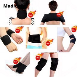 Wholesale Magnetic Pads - Elbow And Knee Pad Magnetic Tourmaline Heating Massage 11pieces Therapy Belt Trimmer Sleeve Tourmaline Heat Elbow And Knee Pads